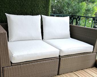 Sunbrella White IKEA OUTDOOR Slip Cover, Ikea Cushion Covers, Custom Ikea Decor, Bespoke Arholma Covers