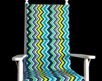 Colorful Zig Zag Chevron Rocking Chair Cushion