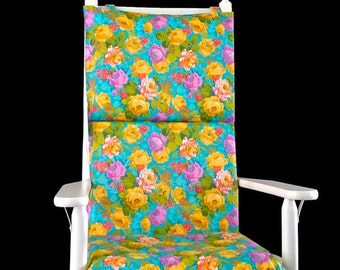 Colorful Flowers Rocking Chair Cover