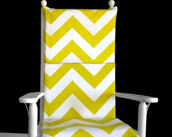 Pastel Green Zig Zag Chevron Rocking Chair Cover