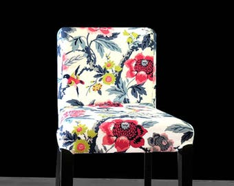 IKEA HENRIKSDAL Bar Stool Chair Cover, Gray, Red, White Ebony, Colorful Flowers