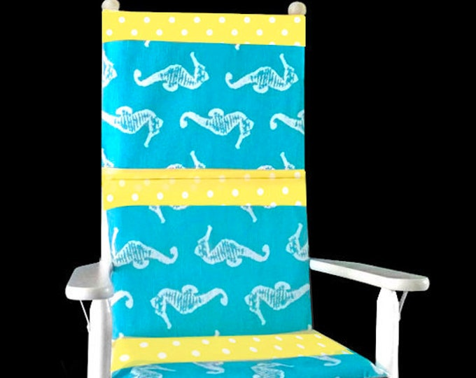 Seahorses Rocking Chair Cushion Cover, Nursery Chair Covers