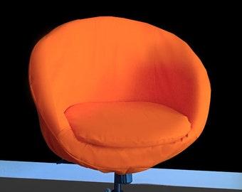 IKEA SKRUVSTA Chair Slip Cover, Solid Orange