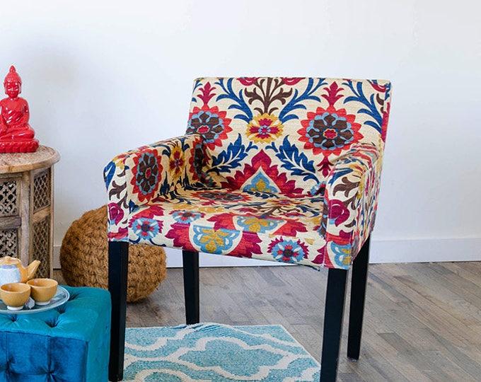 Custom Furniture Prints, IKEA NILS Chair Slip Cover - Santa Maria Gem