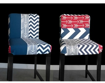 PAIR Patchwork Ikea HENRIKSDAL Bar Stool Chair Covers