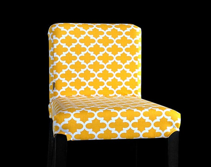 Yellow IKEA HENRIKSDAL Bar Stool Chair Cover