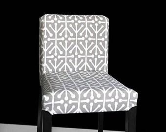 Gray IKEA HENRIKSDAL Bar Stool Chair Covers