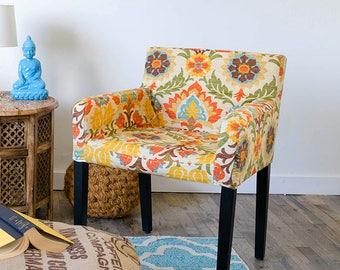 Custom Furniture Prints, Floral IKEA NILS Chair Slip Cover - Santa Maria Adobe