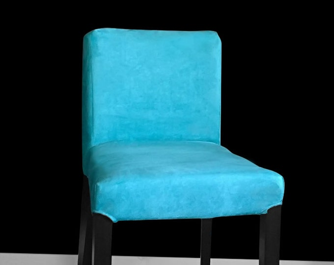Solid Blue IKEA HENRIKSDAL Bar Stool Chair Cover