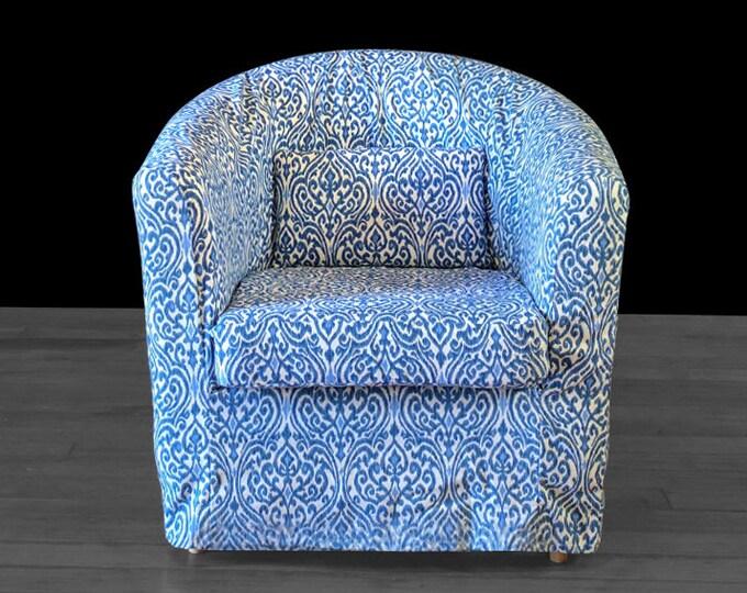 Indigo Blue Custom IKEA TULLSTA Chair Slip Cover