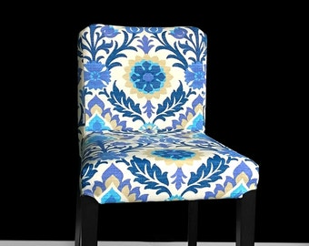 IKEA Bar Stool Chair Cover, Blue Floral Ikea Cover for HENRIKSDAL