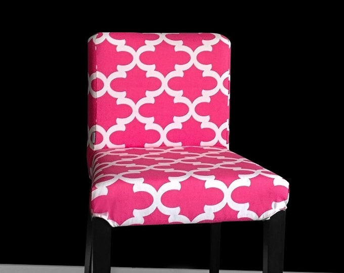 Pink Custom Henriksdal Seat Cover, Indian Style Ikea Chair Cover