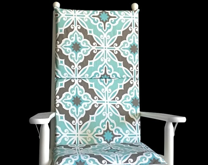 Vintage Style Pale Blue Rocking Chair Cover