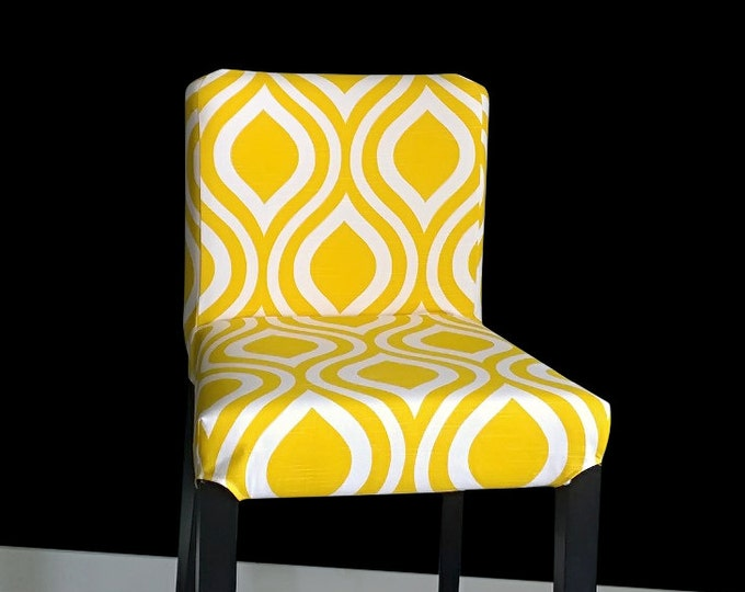 Yellow Teardrop IKEA HENRIKSDAL Bar Stool Chair Cover