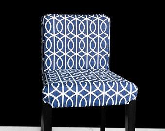 Blue Circle Pattern HENRIKSDAL Bar Stool Chair Cover