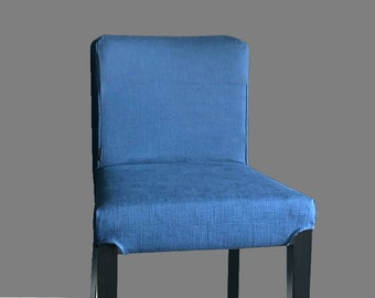 Plain Blue IKEA HENRIKSDAL Bar Stool Chair Cover