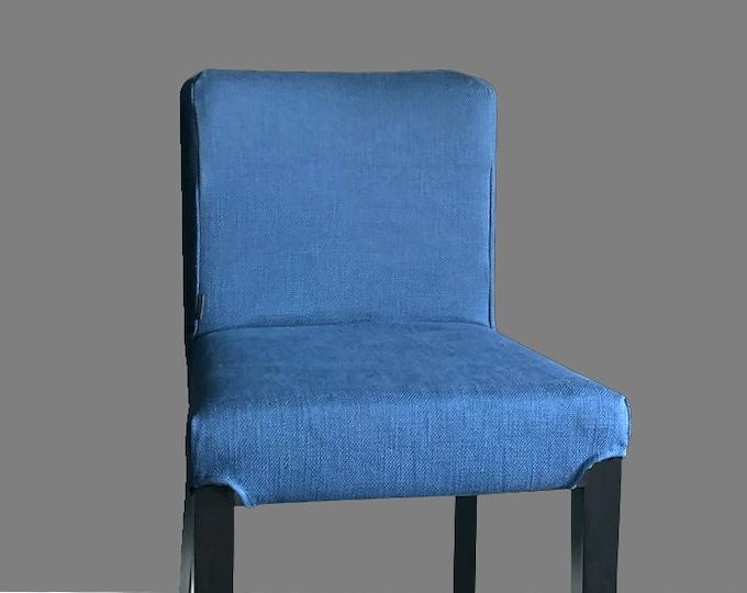 Plain Blue IKEA HENRIKSDAL Bar Stool Chair Cover