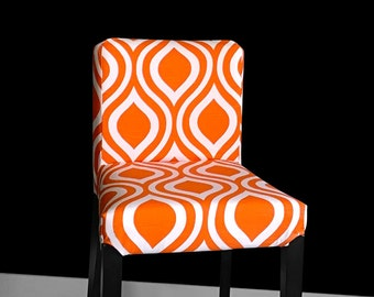 Orange Indian Style Ikea Bar Stool Cover, Orange Henriksdal Cover