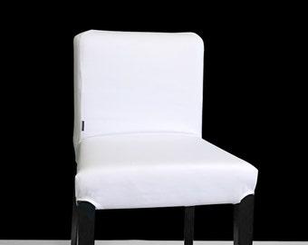 PAIR White Ikea HENRIKSDAL Bar Stool Chair Covers