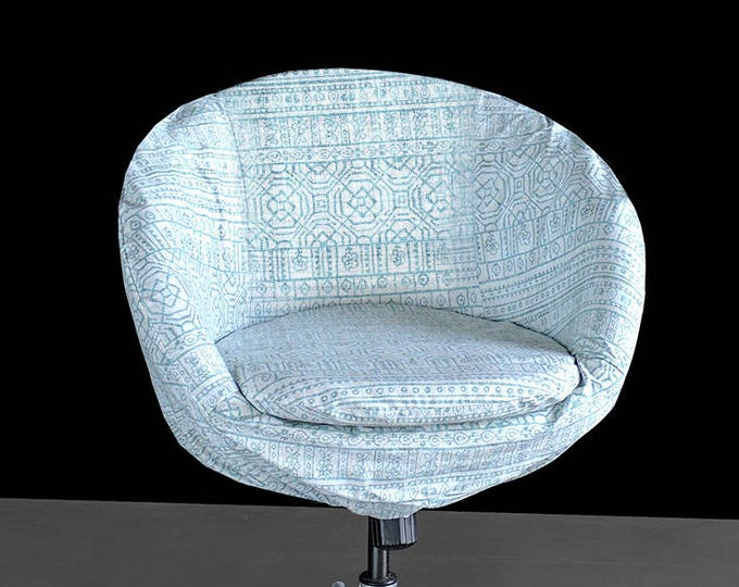 Alternative IKEA SKRUVSTA Chair Slip Cover, Patterned Light Blue