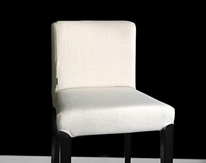 Natural Linen HENRIKSDAL Bar Stool Chair Cover, Plain Henriksdal Seat Cover
