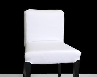 SUNBRELLA IKEA Bar Stool Chair Covers, Outdoor Solid White