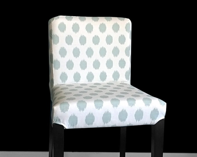 IKEA HENRIKSDAL Bar Stool Slipcovers, Chair Covers, Ikea Accent Chair, Ikea Dining Chair, Jo Jo Snowy, Ikat Light Blue Polka Dot