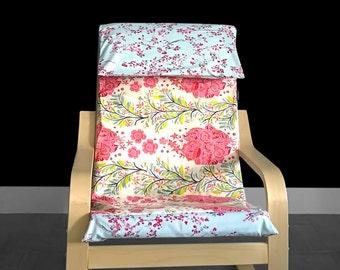 Pink Floral Girls IKEA Childs POÄNg Cushion Slipcover