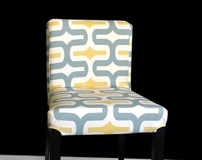PAIR Patterned IKEA HENRIKSDAL Bar Stool Chair Covers