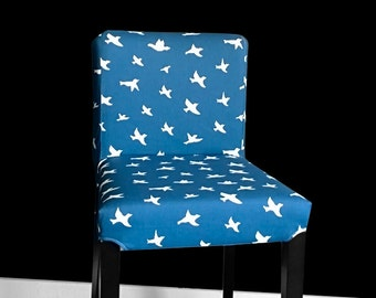 PAIR IKEA HENRIKSDAL Bird Bar Stool Slipcovers, Bird Ikea Chair Covers