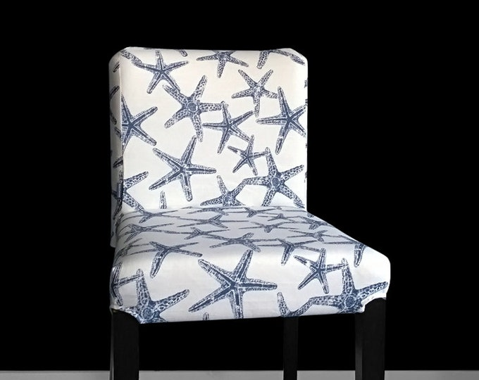 Starfish Henriksdal Seat Cover, Starfish Henriksdal Stool Cover, Sea Life Ikea Covers