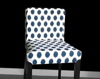 Blue Polka Dots IKEA HENRIKSDAL Chair Cover