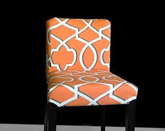 PAIR IKEA HENRIKSDAL Bar Stool Chair Covers - Morrow Orange