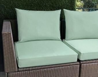IKEA OUTDOOR Slip Cover, Plain Blue Ikea Cushion Covers, Custom Ikea Decor, Bespoke Arholma Covers, Sunbrella Spa Blue