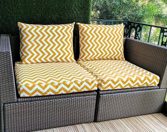 IKEA OUTDOOR Chevron Slip Cover, Zig Zag Ikea Cushion Covers, Custom Ikea Decor, Bespoke Arholma Covers