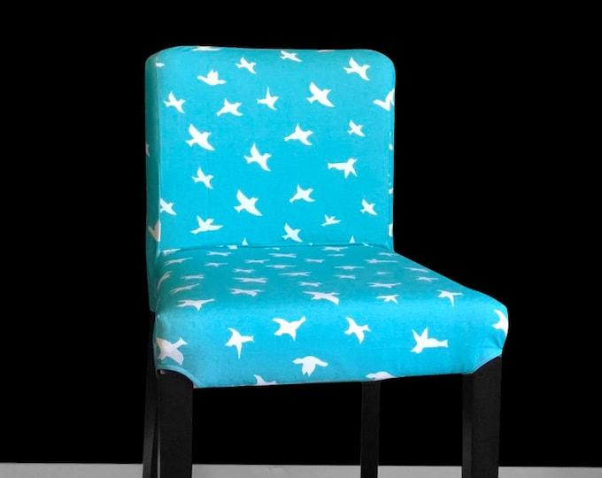 Blue Bird Print IKEA HENRIKSDAL Chair Cover