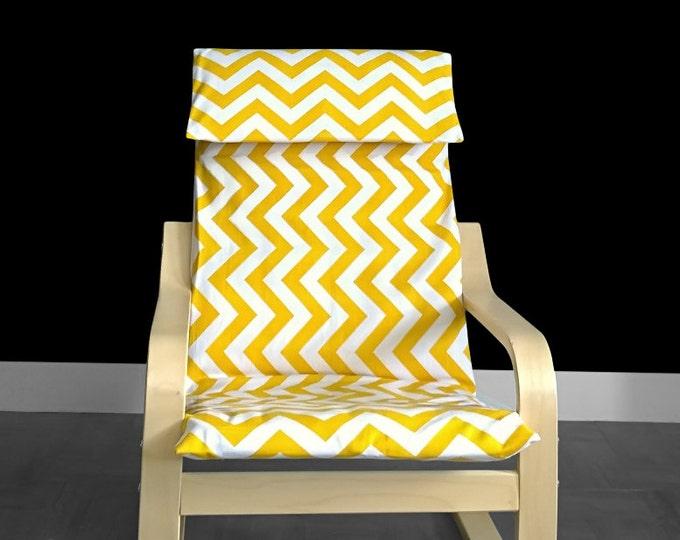 Sale, Yellow White Chevron, IKEA KIDS POÄNG Seat Cover