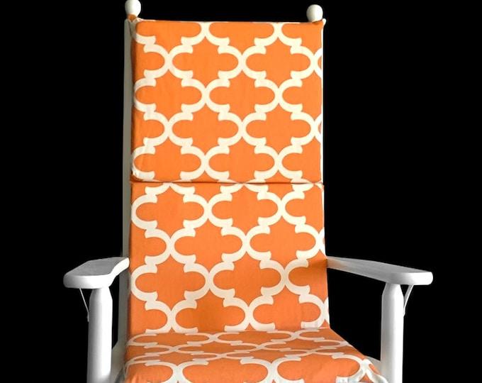 Orange Pattern Rocking Chair Cushion