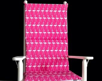 Pink Flamingo Rocking Chair Cushion Cover