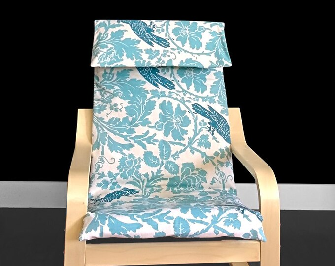 SALE Blue Flower Print Ikea KIDS POÄNg Cushion Slip Cover