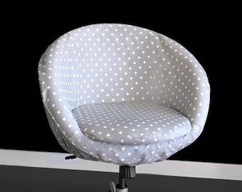 Custom Gray Swiss Cross IKEA SKRUVSTA Chair Slip Cover