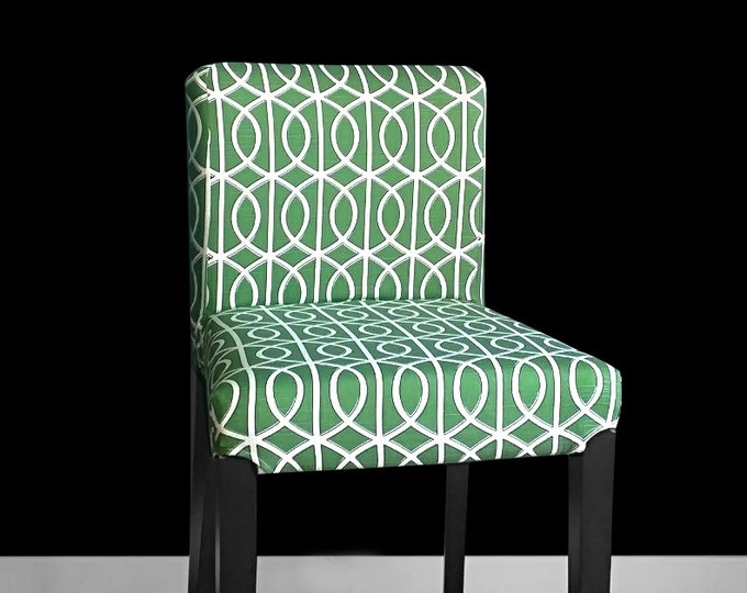 Green HENRIKSDAL Stool Chair Cover
