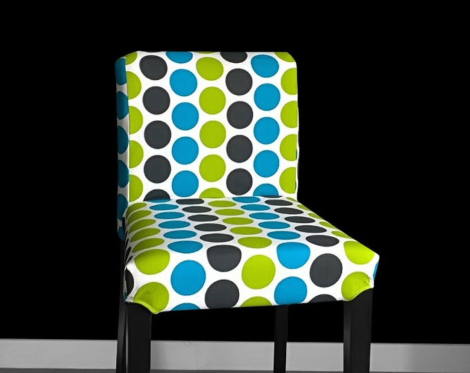 Colorful Dots HENRIKSDAL Bar Stool Chair Cover, Funky Henriksdal Seat Cover