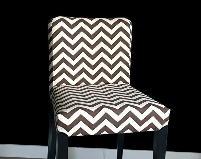 Brown Chevron HENRIKSDAL Bar Stool Chair Cover