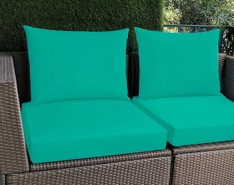 Sunbrella Teal Blue IKEA OUTDOOR Slip Cover, Plain Blue Ikea Cushion Covers, Custom Ikea Decor, Bespoke Arholma Covers