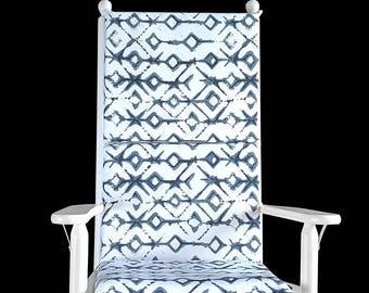 Indigo Blue Tribal Rocking Chair Cushion