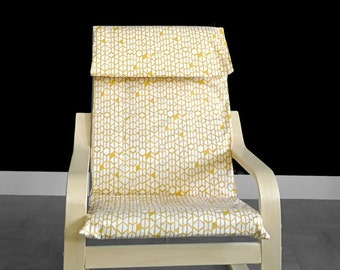Yellow Honeycomb IKEA KIDS POÄNG Cushion Slipcover