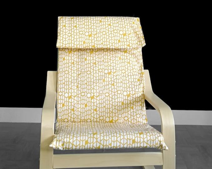 Yellow Honeycomb IKEA KIDS POÄNG Cushion Slipcover