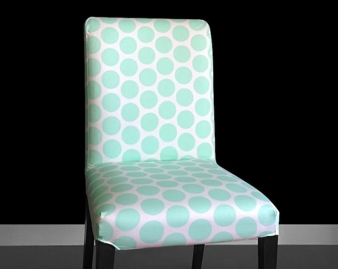 Mint Polka Dot Henriksdal Chair Cover