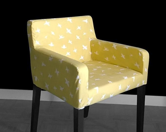 Bird Silhouette Saffron Yellow IKEA NILS Chair Seat Cover